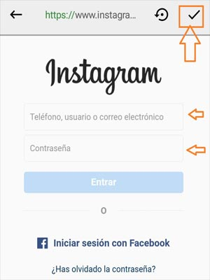 Iniciar sesion neutrino + app instagram