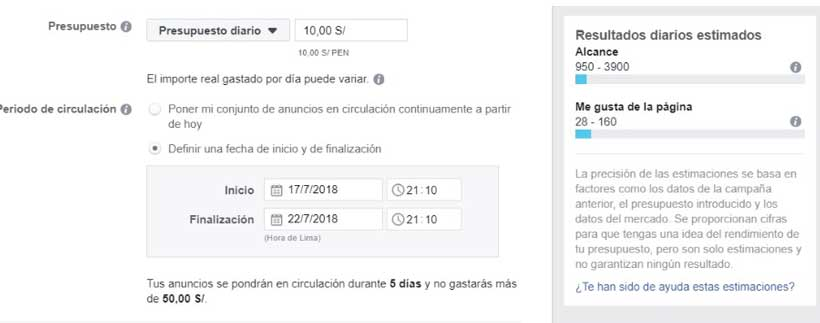 Optimizar campañas de megusta e facebook ads