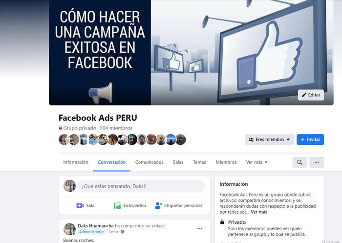 crear un grupo de facebook para obtener comunidad de seguidores